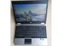 HP Laptop 8440, Intel core i5 proc, Windows7, Excellent condition, With battery and mains charger.