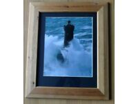 One Lighthouse Print in Pine Frame Excellent condition Width 20in/51cm Height 28in71cm