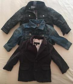 Boys 12-18 years old various jackets x 3