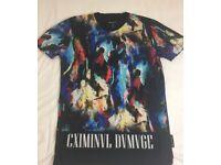 Criminal Damage Patterned T-Shirt For Sale