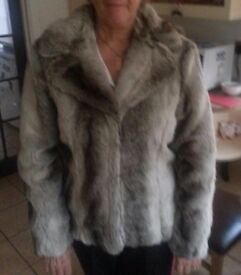 Julien Macdonald Designer Debenhams fake fur coat. Size 18. Brand new with labels attached