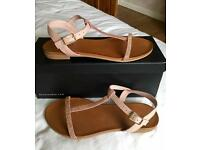 Dune leather sandals - size 5 (38)