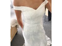 Mermaid Off the Shoulder Wedding Dress