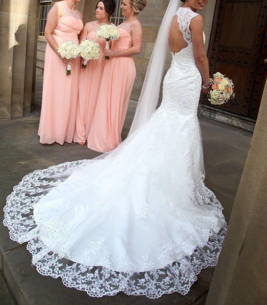 Viva Bride, Mimosa Vintage Lace Fishtail Wedding Dress , UK Size 8 ...