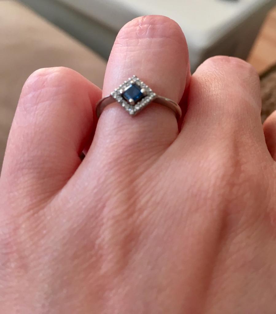 Sapphire and diamond ring | in Torquay, Devon | Gumtree
