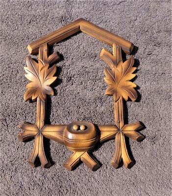 Black Forest Cuckoo Clock Carved Front Nest Regula Heco Herr Kuner Sohne Schatz