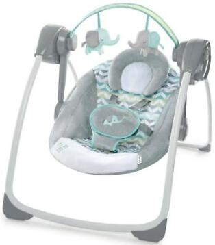 Bright Starts Ingenuity Portable Swing Jungle Journey Bab...