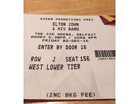 Elton John, SSE Arena, Belfast, Friday 2nd December