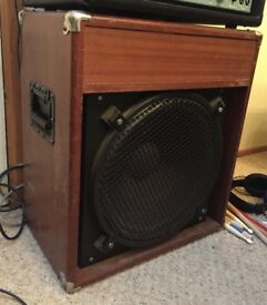 Vintage Peterson Wooden Bass Cabinet with EV 15L