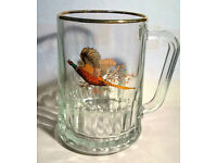 Bird Pheasant Tudor Dema Glass Pint Tankard