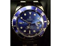 Blue face Submariner Rolex