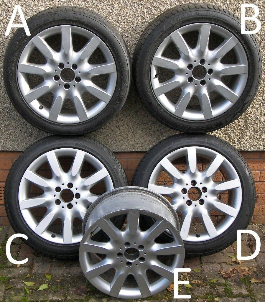 Mercedes 18-inch S-Class Alloy Wheels, MAY SPLIT, FRONT (8.5J) A2214011902, REAR (9.5J) A2214011502