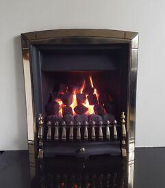 Valor Bolero 3.4 Kw Full Depth Inset Gas Fire (Pale Gold)