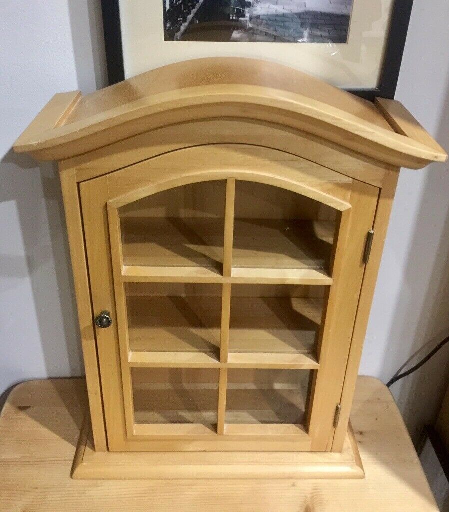 stunning wood bathroom cabinet with glass panels  in
