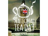 2x tickets NATIONAL TEA DAY - Chiswick House Sat 21st April