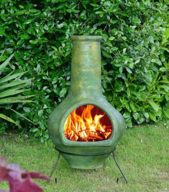 Grosser Original Mexico Terrassenofen Gartenkamin Holzofen Ofen In