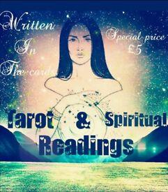 Tarot & Spiritual card readings £5