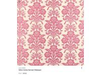 Laura Ashley Tatton Cerise Wallpaper