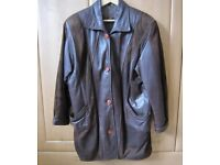 LADIES LEATHER AND SUEDE JACKET SIZE MEDIUM GOOD CONDITION