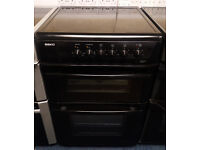 £190 Black Beko 60cm Ceramic Cooker – 12 Months Warranty