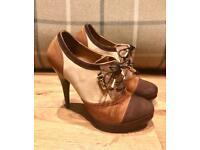Dolce & Gabbana Shoe Boot Heels Beige Size 3