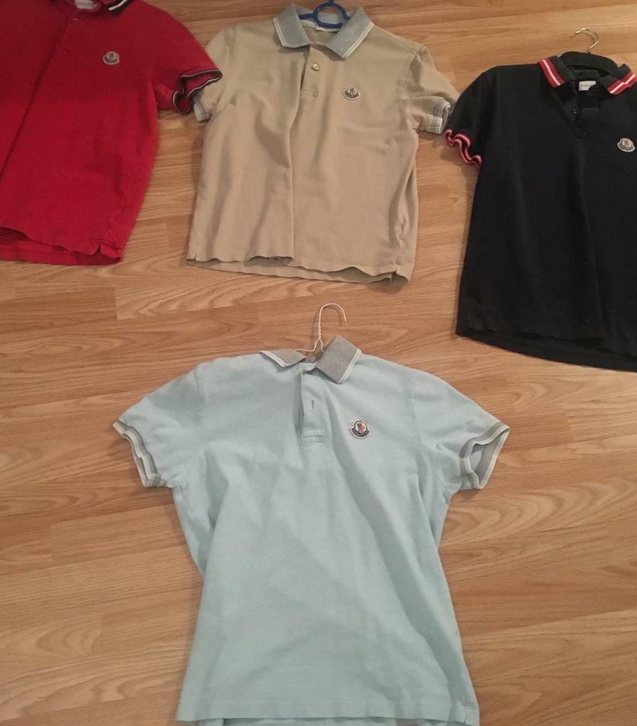 Men's moncler polo shirts for sale like new