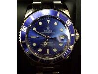 Blue face Submariner rolex