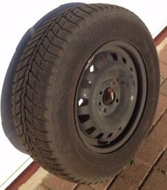 Set of 4 M & S Winter tyres on steel rims