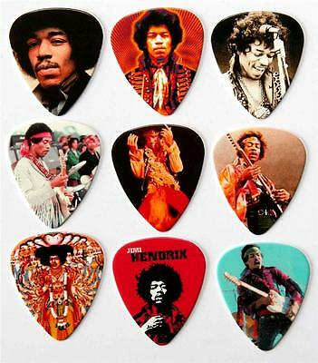 Jimi Hendrix Premium Guitar Picks - Packet of 9 Different Plectrums