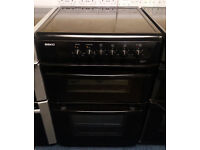 £190 Black Beko 60cm Ceramic Cooker – 12 Months Warranty