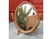 LOVELY VINTAGE GOLD ORNATE DRESSING TABLE MIRROR