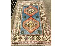 Vibrant, clean, hand knotted Rug (Reduced Price)
