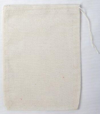 100 (5x7) Cotton Muslin Drawstring Bags Bath Soap Herbs
