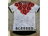Supply&Demand 'BLESSED' Red Rose T-shirt