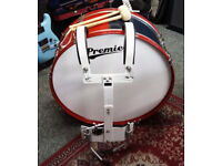 """28"""" Premier Marching Band Bass Drum with Harness"""