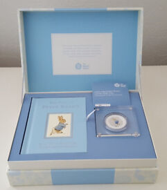 Peter Rabbit Beatrix Potter limited edition coin and book gift set.