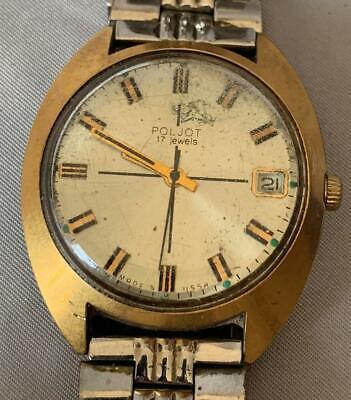 Poljot 17 Jewels USSR Mens Watch Nice!
