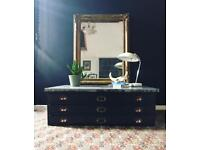 Vintage printers chest coffee table bespoke 1950's *RARE
