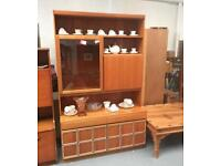 ** McINTOSH TEAK MID CENTURY WALL UNIT - CAN DELIVER **
