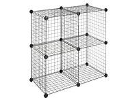 C&C Black Cage Grid 36 Grid Pieces, 42 Corners Rabbit Guinea Pig Run Enclosure Indoor Outdoor