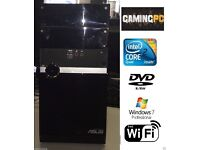 SUPER FAST GAMING ASUS CORE 2 QUAD 4GB DVDRW WINDOW 7 4GB 320GB - FREE WIFI