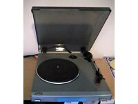 Bush MTT1 silver turntable / record player. Good condition.