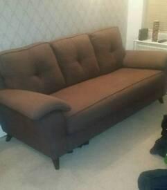 Light chocolate brown sofa