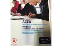 ACCA P1 Exam kit by Kaplan (Governance, Risk&Ethics) Sep&Dec '17, Mar&Jun '18 (Used-looks new)