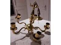 5 arm brass light fitting