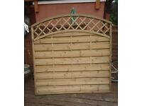 One single fence panel