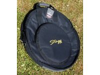 Stagg 22 inch Cymbal Case CYB10 Heavy Duty Padded With Dividers. With Tag