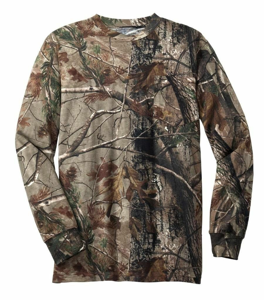 889809b8 Russell Outdoors REALTREE All Purpose Camo LONG SLEEVE T-shirt S-2XL 3XL  HUNTING