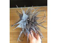 Light grey Hair clip Fascinator