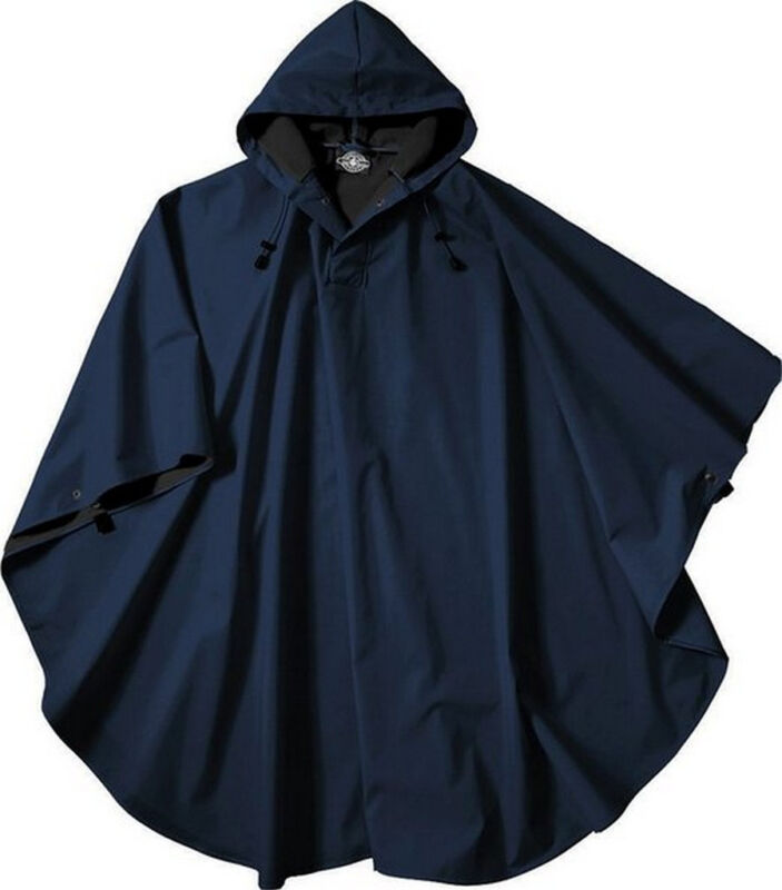 Rain Poncho Coat Camping Hooded Hiking Wind Waterproof Sizes One Size Fits Most